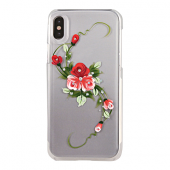 Накладка iCover Hand Printing для iPhone X - Vintage Rose Pink