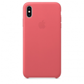 Накладка Apple Case Leather для iPhone XS Max - Soft Pink