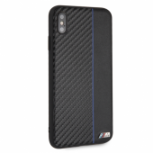 Накладка BMW M-Collection Carbon inspiration для iPhone XS Max - Black/Navy