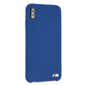 Накладка BMW M-Collection Liquid Silicone Hard для iPhone XS Max - Navy