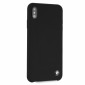 Накладка BMW Signature Liquid Silicone Hard для iPhone XS Max - Black