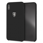 Накладка Ferrari Silicone Rubber Hard для iPhone XS Max - Black