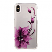 Накладка iCover Hand Printing для iPhone X - Flower Purple