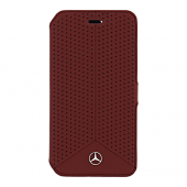 Чехол Mercedes Pure Line Booktype Leather Perforated для iPhone 6 / 6s - Red