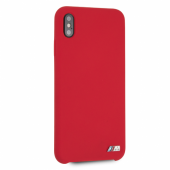 Накладка BMW M-Collection Liquid Silicone Hard для iPhone XS Max - Red