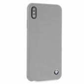 Накладка BMW Signature Liquid Silicone Hard для iPhone XS Max - Grey