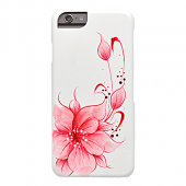 Накладка iCover Hand Printing для iPhone 6 / 6s - Flower Pink