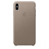 Накладка Apple Case Leather для iPhone XS Max - Taupe