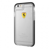 Накладка Ferrari Shockproof Hard для iPhone 6 / 6s - Transparent-Black