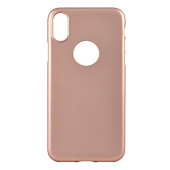 Накладка iCover Rubber для iPhone X - Rose Gold/Hole