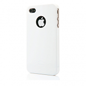 Накладка iCover i4 Glossy для iPhone 4/4s - White
