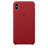 Накладка Apple Case Leather для iPhone XS Max - (PRODUCT) Red