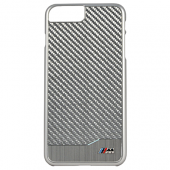 Накладка BMW M-Collection Hard Aluminum & Carbon для iPhone 7 Plus / 8 Plus - Silver