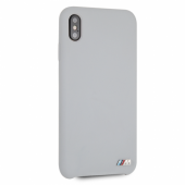 Накладка BMW M-Collection Liquid Silicone Hard для iPhone XS Max - Grey