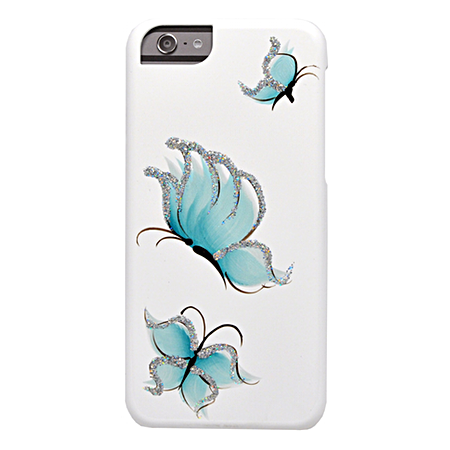Накладка iCover Pure Butterfly для iPhone 6 / 6s - White/Sky Blue