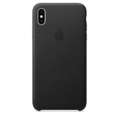 Накладка Apple Case Leather для iPhone XS Max - Black
