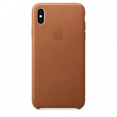 Накладка Apple Case Leather для iPhone XS Max - Saddle Brown