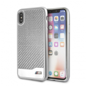 Накладка BMW M-Collection Hard Aluminum & Carbon для iPhone X / XS - Silver