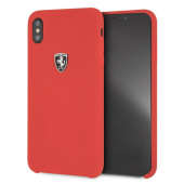 Накладка Ferrari Silicone Rubber Hard для iPhone XS Max - Red