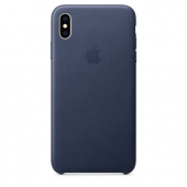 Накладка Apple Case Leather для iPhone XS Max - Midnight Blue