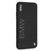 Накладка BMW Signature Hard Logo imprint для iPhone XS Max - Black