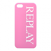 Накладка Replay Logo Hard для iPhone 5 / 5s / SE - Pink