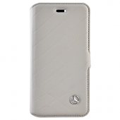 Чехол Mercedes Pattern ll Booktype Leather для iPhone 8 Plus / 7 Plus / 6s Plus / 6 Plus - Grey