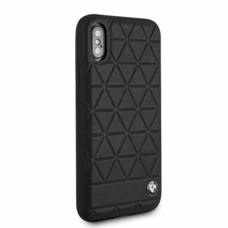 Накладка BMW Signature Embossed Hexagon Hard для iPhone XS Max - Black