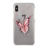 Накладка iCover Hand Printing для iPhone X - Happy Butterfly
