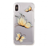 Накладка iCover Hand Printing для iPhone X - Pure Butterfly Beige
