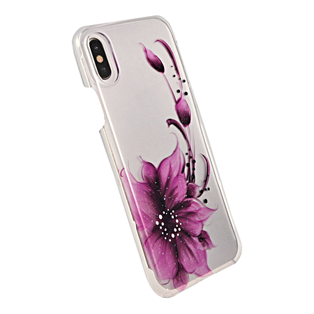 Накладка iCover Hand Printing для iPhone X / XS - Flower Purple
