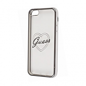 Накладка Guess Signature Heart Hard TPU для iPhone 5 / 5s / SE - Silver