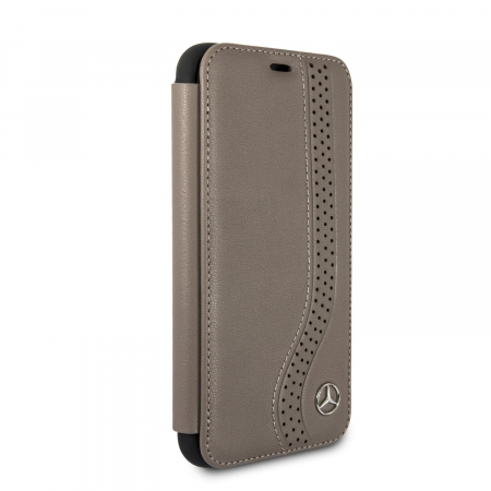 Чехол Mercedes New Bow l Booktype Leather для iPhone X / XS - Brown