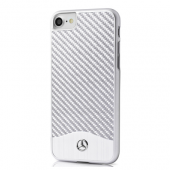 Накладка Mercedes Wave V Hard Aluminum & Carbon для iPhone 8 / 7 - Silver