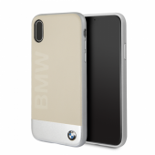 Накладка BMW Signature Bi-material Hard для iPhone X / XS - Beige