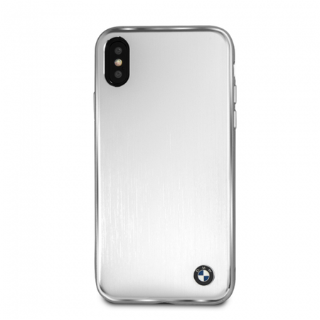 Накладка BMW Signature Brushed Aluminium Hard для iPhone X / XS - Silver