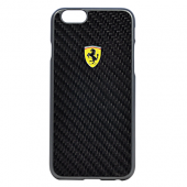 Накладка Ferrari Formula One Hard для iPhone 6 / 6s - Real Carbon Black