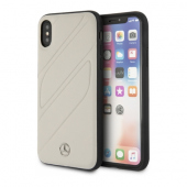 Накладка Mercedes Organic I Hard Leather для iPhone X / XS - Grey