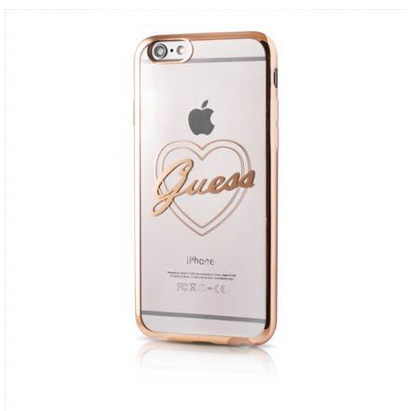 Накладка Guess Signature Heart Hard TPU для iPhone 6 / 6s - Gold