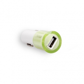 Автозарядка Yoobao для iPhone (+ адаптер и кабель USB+30 pin) - Green