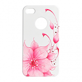 Накладка iCover Hand Printing для iPhone 4/4s - Flower Pink