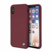 Накладка BMW Signature Liquid Silicone Hard для iPhone X - Red