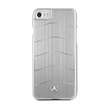 Накладка Mercedes Wave Vlll Hard Brushed Aluminium для iPhone 8 / 7 - Silver