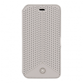 Чехол Mercedes Pure Line Booktype Leather Perforated для iPhone 6 / 6s - Grey