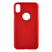 Накладка iCover Rubber для iPhone X - Red/Hole