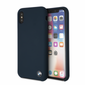 Накладка BMW Signature Liquid Silicone Hard для iPhone X - Navy