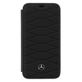 Чехол Mercedes Pattern III Booktype Leather для iPhone X / XS - Black