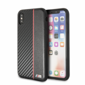 Накладка BMW M-Collection Carbon inspiration для iPhone X / XS - Black/Red