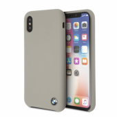 Накладка BMW Signature Liquid Silicone Hard для iPhone X / XS - Taupe