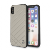 Накладка Mercedes Pattern ll Hard Leather для iPhone X / XS - Grey